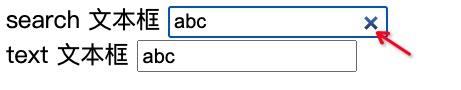 search 与 type 文本框对比